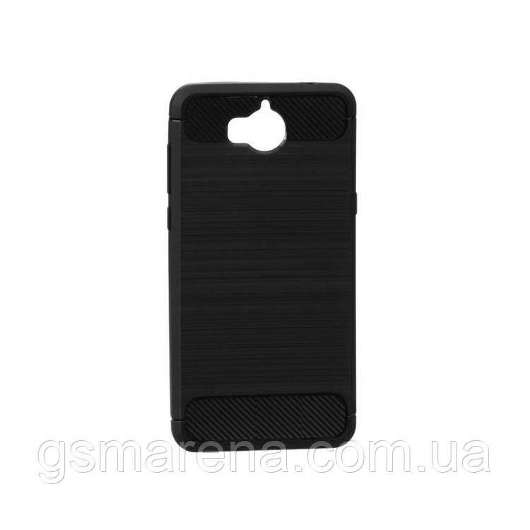 Чехол силиконовый Polished Carbon Huawei Y5 (2017) Черный