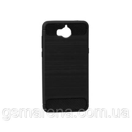 Чехол силиконовый Polished Carbon Huawei Y5 (2017) Черный, фото 2