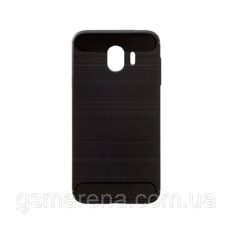 Чехол силиконовый Polished Carbon Samsung J4 (2018) J400 Черный