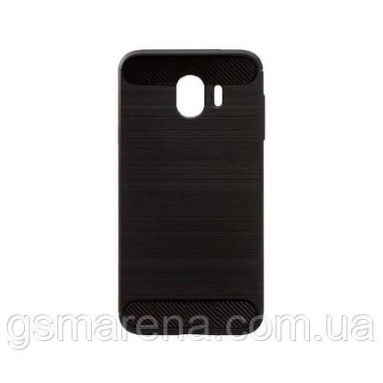 Чехол силиконовый Polished Carbon Samsung J4 (2018) J400 Черный, фото 2