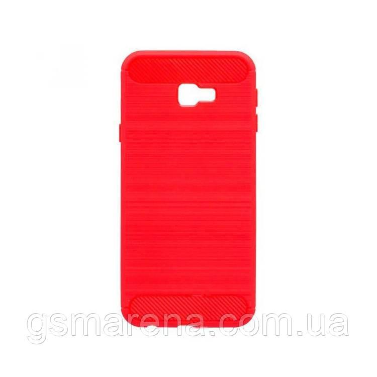Чехол силиконовый Polished Carbon Samsung J4 Plus (2018) J415 Красный