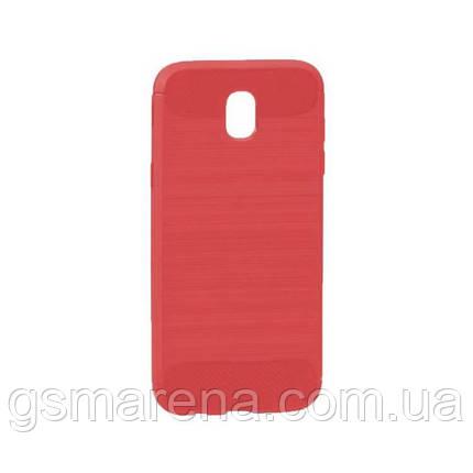 Чехол силиконовый Polished Carbon Samsung J5 (2017) J530 Красный, фото 2