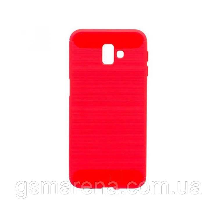 Чехол силиконовый Polished Carbon Samsung J6 Plus (2018) J610 Красный