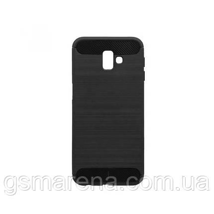 Чехол силиконовый Polished Carbon Samsung J6 Plus (2018) J610 Черный, фото 2