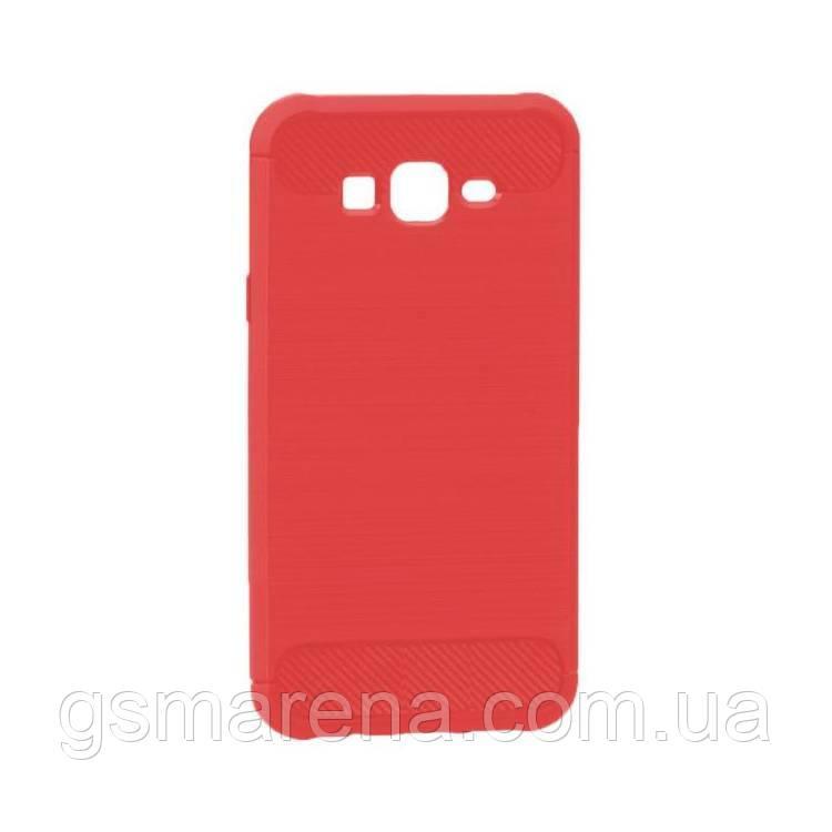 Чехол силиконовый Polished Carbon Samsung J7 (2015) J700, J7 Neo J701 Красный