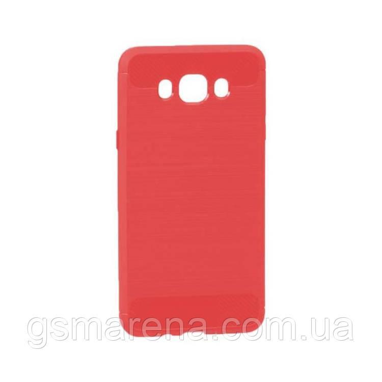 Чехол силиконовый Polished Carbon Samsung J7 (2016) J710 Красный