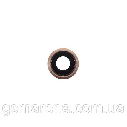 Стекло камеры Apple iPhone 8 Glass for camera Золотой, фото 2