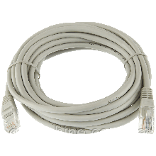 Патч-корд литой LogicPower UTP RJ45 кат. 5Е 5 м (серый)