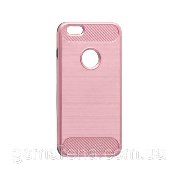 Чехол накладка Motomo X6 Apple iPhone 6 Plus, 6S Plus розово-Золотой