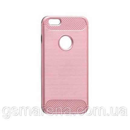 Чехол накладка Motomo X6 Apple iPhone 6 Plus, 6S Plus розово-Золотой, фото 2