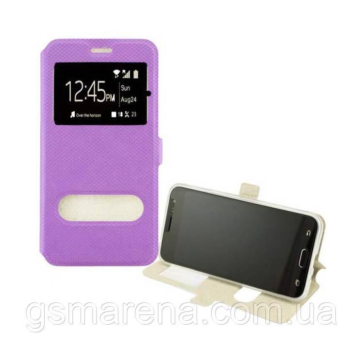 Чехол книжка Modern (2 окна) Huawei Y6 (2018) Фиолетовый