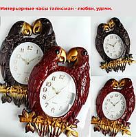 Винтажные настенные часы интерьерные Quartz, попугайчики - талисман - любви, удачи., фото 1