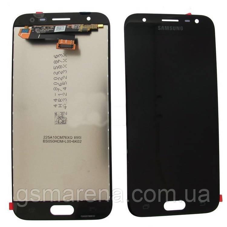 Дисплей модуль Samsung J330F J3 (2017) Черный (Сервисный модуль)