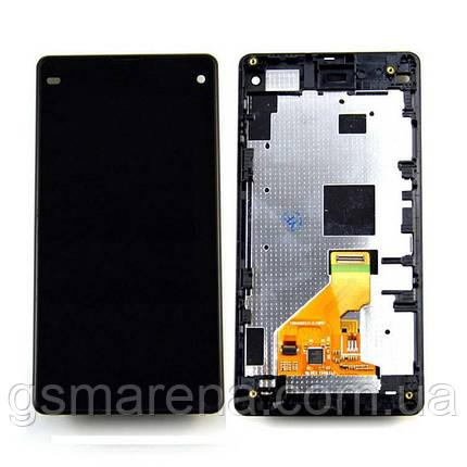 Дисплей модуль Sony Xperia Z1 Compact D5503 Черный (с рамкой), фото 2