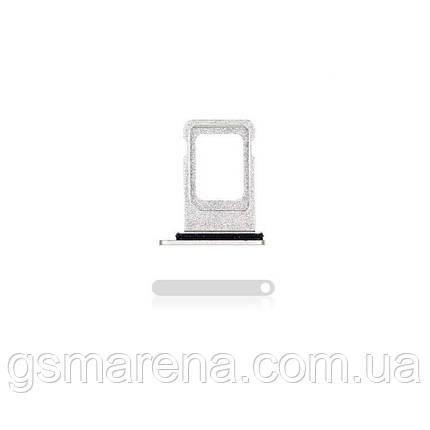 Сим держатель SIM холдер Apple iPhone 11 SIM holder Белый (one sim), фото 2