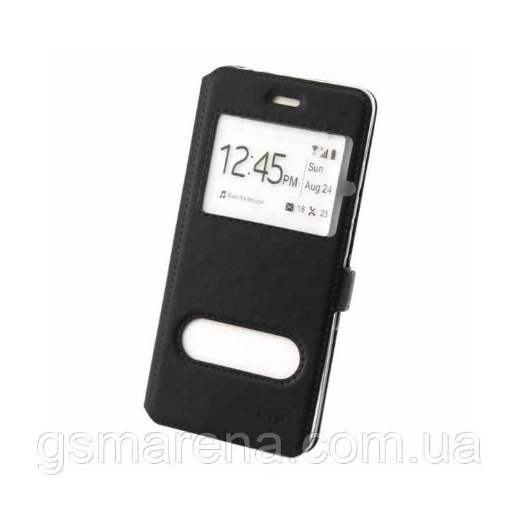 Чехол книжка ViP (2 окна) Huawei P Smart Plus Черный