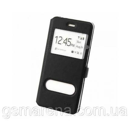 Чехол книжка ViP (2 окна) Huawei P Smart Plus Черный, фото 2