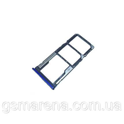 Сим держатель SIM холдер Xiaomi Redmi 7 comet Синий, фото 2