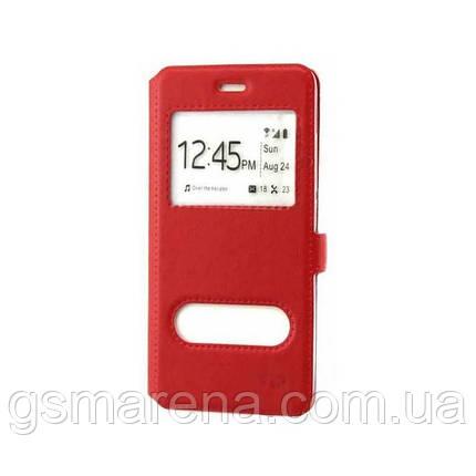 Чехол книжка ViP (2 окна) Huawei P8 Lite Красный, фото 2