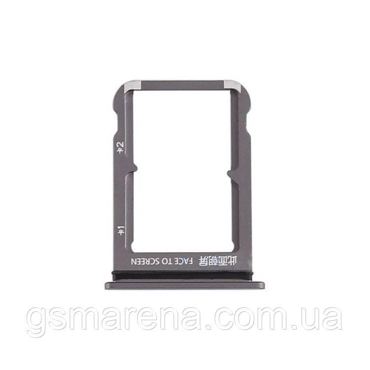Сим держатель SIM холдер Xiaomi Redmi Mi9 piano Черный