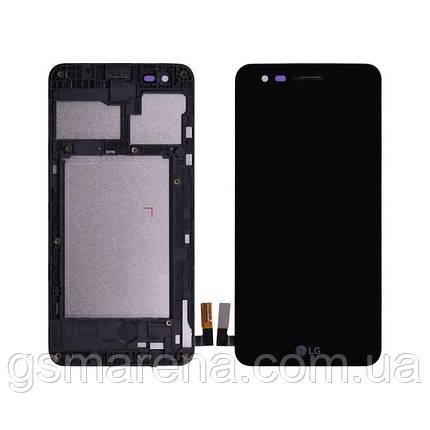 Дисплей модуль LG K4 (2017) M160 complete (с рамкой) Черный, фото 2