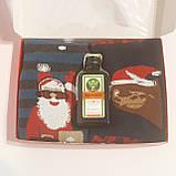 Новорічний подарунок: міні Jagermeister + 2 пари махрових шкарпеток, фото 2