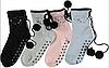 Зимние женские носки с помпонами (размер 35-39 в расцветках), фото 3