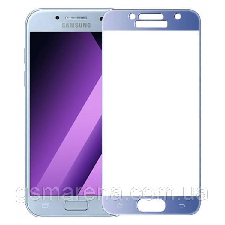 Стекло корпуса Samsung A520 A5 (2017) Синий Оригинал