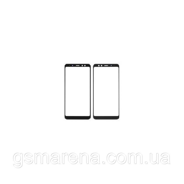 Стекло корпуса Samsung A530F A8 (2018), с OCA пленкой, Черный