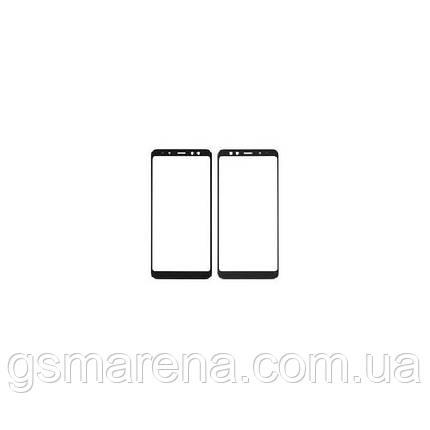 Стекло корпуса Samsung A530F A8 (2018), с OCA пленкой, Черный, фото 2