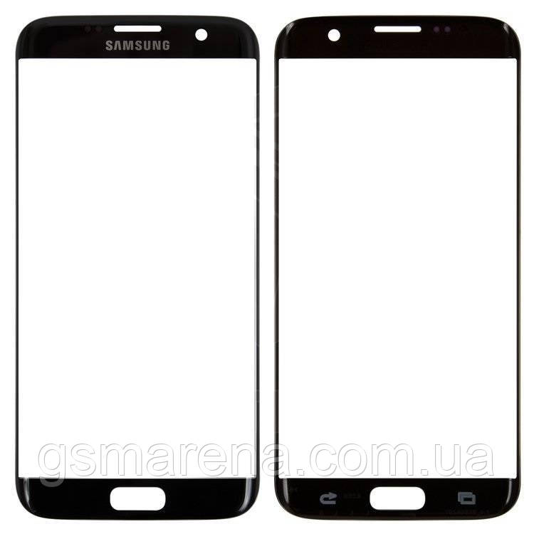 Стекло корпуса Samsung G935F S7 Edge, G935FD S7 Edge Duos Черный