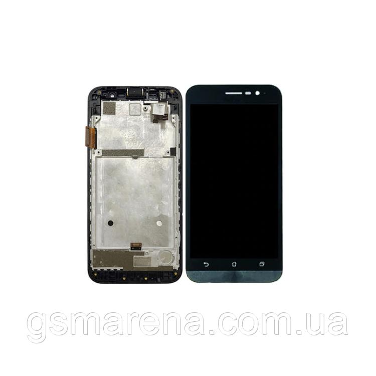 Дисплей модуль Asus ZenFone Go (ZB500KG) touch (с рамкой) Черный