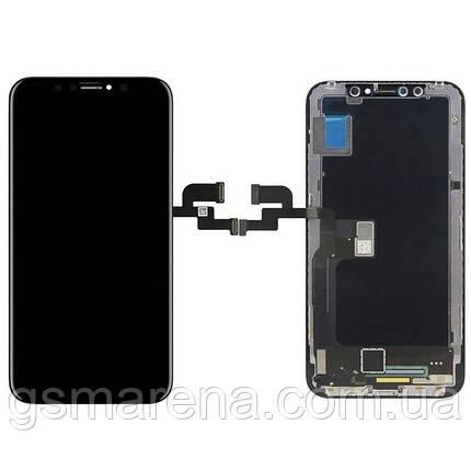 Тачскрин сенсор Apple iPhone X Черный TFT, фото 2