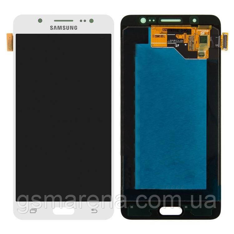 Дисплей модуль Samsung SM-J510H Galaxy J5 (2016) Белый Оригинал (Сервисный)