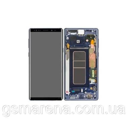 Дисплей модуль Samsung SM-N960 Galaxy Note 9 ocean Синий с рамкой Оригинал (Сервисный), фото 2