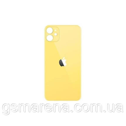 Задняя часть корпуса Apple iPhone 11 Желтый (большой вырез под камеру), фото 2