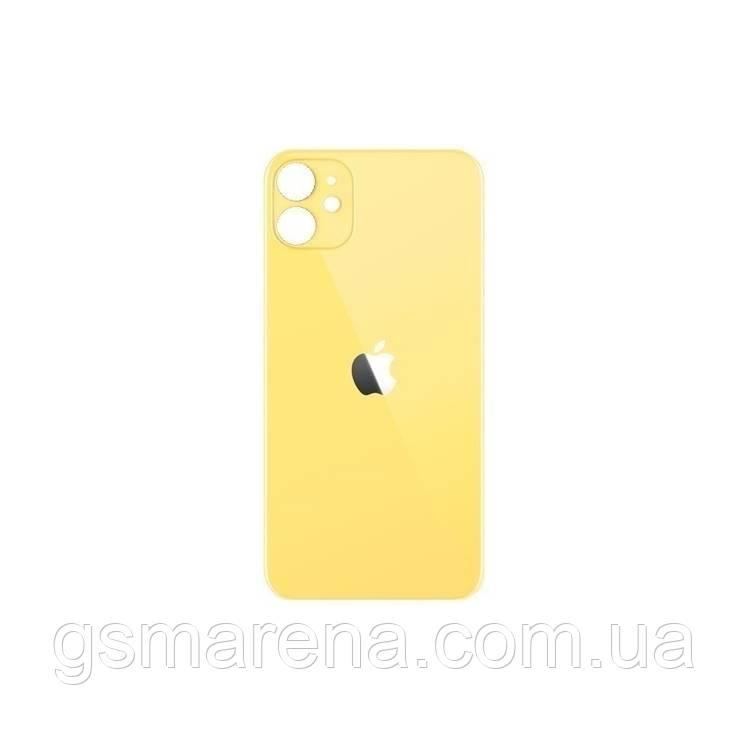 Задняя часть корпуса Apple iPhone 11 Желтый (большой вырез под камеру)