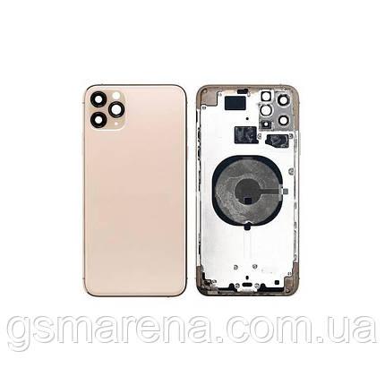 Задняя часть корпуса Apple iPhone 11 Pro Max housing Золотой Оригинал, фото 2