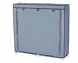 Шкаф тканевый обувной НСХ T-2712 на 12 полок, серый, фото 2