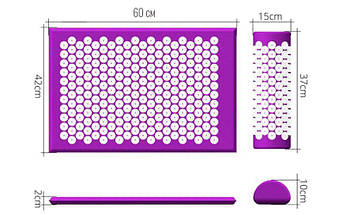 Массажный матрас коврик Beads of Nails акупунктурный массажный набор, фото 2
