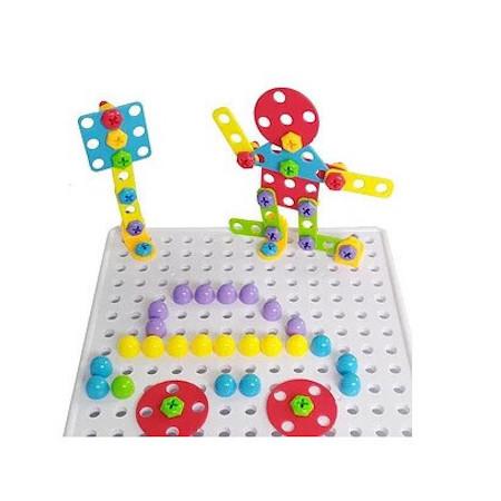 "Конструктор развивающий Tu Le Hui ""Puzzle Peg"" чемодан на 224 детали"