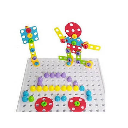 "Конструктор развивающий Tu Le Hui ""Puzzle Peg"" чемодан на 224 детали, фото 2"