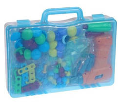 "Конструктор развивающий Tu Le Hui ""Puzzle Peg"" чемодан на 224 детали, фото 3"