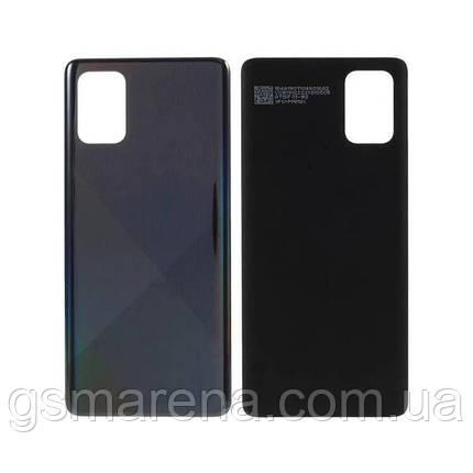 Задняя часть корпуса Samsung Galaxy A71 (2020) SM-A715 Черный, фото 2