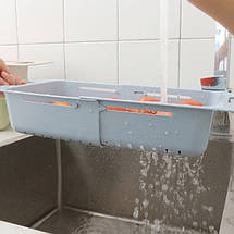Корзина в раковину для мытья фруктов и овощей Easy home TM-124 кухонный выдвижной лоток, фото 2