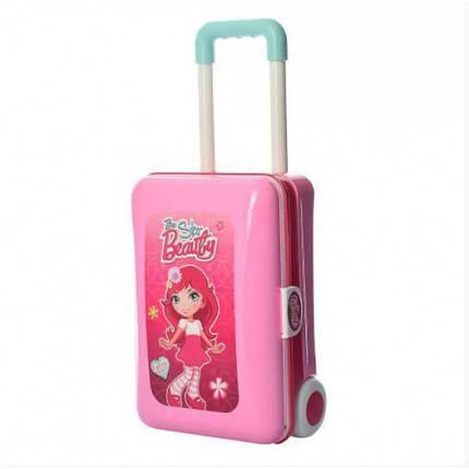 Трюмо детское в чемодане So Beauty, розовое, фото 2
