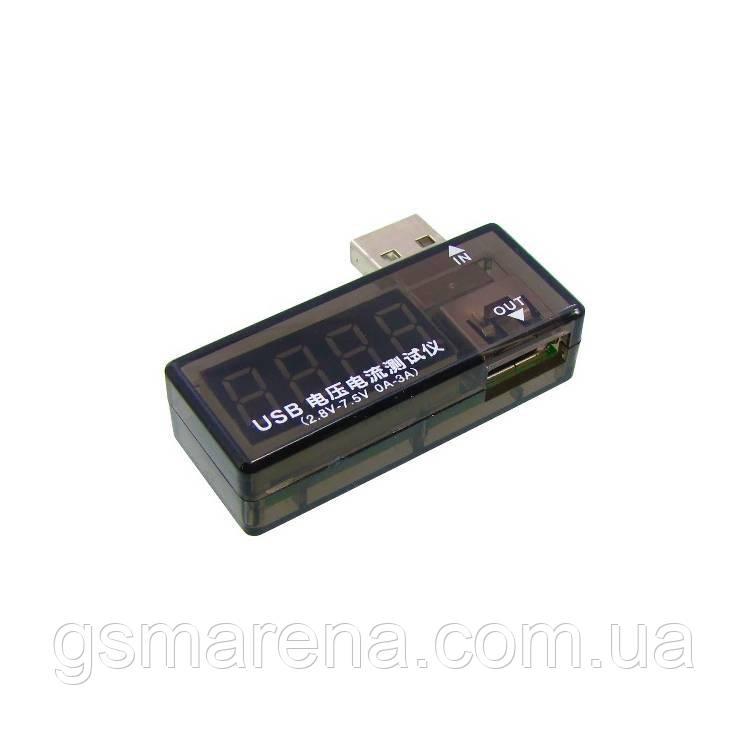 Зарядное устройство USB Charger Doctor Aida A-3333 измерения напряжения и тока при зарядке