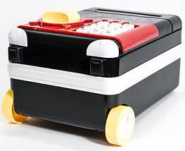 Сейф детский супергерои чемодан на колёсах, красно-чёрный, фото 2