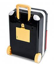 Сейф детский супергерои чемодан на колёсах, красно-чёрный, фото 3