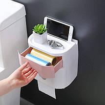 Органайзер для туалетного паперу, тримач для туалетного паперу, фото 3